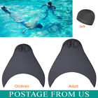Adult/Kids Mermaid Swimming Tails Diving Monofin Swimmable Fin Training Flipper