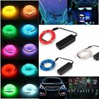 5M Battery Operated Luminescent Neon LED Lights Glow EL Wire Party Strip Rope US