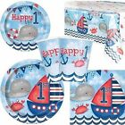 Baby Boy 1st Birthday Nautical Themed Party Tableware Decora