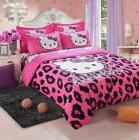 New Cute Hello Kitty Bedding Duvet Quilt Cover Bedding Set Twin Full Queen Size