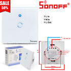 Sonoff T1 WiFi RF Panel Touch 1 2 3Gang Switch Smart APP Remote Timer UK EU Plug