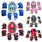 boys girls kids safety helmet and knee