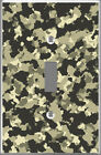 Artfully crafted Hand-made light switch cover Grey Camo Print home room decor