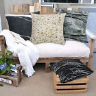 Home Decor Square Throw Pillow 3D Stone for DayBed Sofa Canvas Cover with Insert