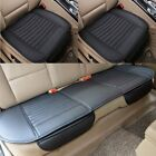 Car Front Rear Seat Cover Breathable PU Leather Pad Mat Chair Cushion Universal  for sale