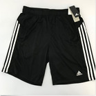 New Adidas Climalite Men's Black Shorts With Pockets and Dra