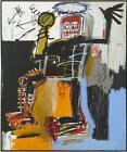 Hand Painted Abstract Canvas Oil Painting Jean-Michel Basquiat Repro Graffiti