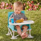 Baby Sit Booster Seat with Tray Fold Portable Chair Eating & Kitchen for Kids