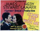 christmas film with james stewart - 35m-5739 Hedy Lamarr James Stewart film Come Live with Me 35m-5739