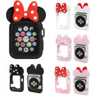 Cute Cartoon Lovely Minnie Mouse Ear Tie Soft Silicone Case fr Apple Watch Cover image