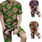 African Clothing Dashiki Fashion Print Short Sleeve Tops With Shorts 2Piece Set