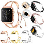 Lady Stainless Steel Wrist Band Bangle Cuff Bracelet For Apple Watch Series 1~4 image