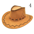 Hot Cowboy Hat Imitate Suede Look Wild West Fancy Dress Cowgirl Unisex GS