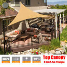 Sun Shade Sail Outdoor Awning Top Cover Canopy Patio UV Block 11.5' 18' Triangle
