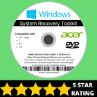 Acer Windows 10 8 8.1 7 Vista XP Recovery Repair Disc USB Reinstall Software DVD