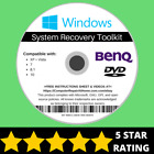 BenQ Windows 10 8 8.1 7 Vista XP Recovery Repair Disc USB Reinstall Software