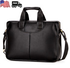 US Men Business Leather Handbag Briefcase Shoulder Messenger Laptop Satchel Bag