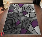 Kyпить Purple/Grey/Silver/Black/Abstract Area Rug Modern Contemporary Circles Design на еВаy.соm