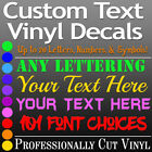 Home Decor Interiors CUSTOM TEXT Vinyl Lettering Decal Personalized Sticker Wall Window Name City USA
