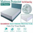 Mattress Protector Waterproof Bamboo Soft Hypoallergenic Fitted Five Sizes Cover image