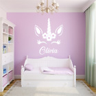 Personalised Name Unicorn Wall Art Girls Room Childrens Kids Sticker Vinyl Decal