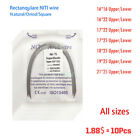 10Pcs Dental Orthodontic NITI Super Elastic Rectangular Arch Wires All Size  <br/> Natural / Ovoid / Square form  016*016 upper 016.022low