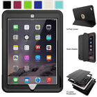For iPad 9.7 inch 5th 6th Gen 2018 Screen Protector Shockproof Case Stand Cover