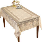 Crochet Lace Floral Tablecloth for Dining Room Accent or Layering Linens