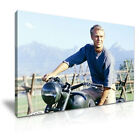 Steve McQueen The Great Escape Stretched Canvas ~ More Size