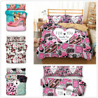 3D Lipstick Cosmetic High Heels Duvet Cover Bedding Set Girl Quilt Cover Set HD image