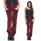 Slim Skinny Stretchy Cords Trousers - Burgundy