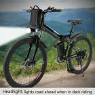 "26"" Folding Electric Mountain Bike Bicycle Ebike 36v 7 modes fly-wheel City"