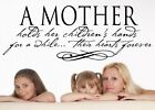 A Mother holds her children's hands for a while Inspirational Wall Sticker Decal