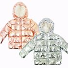 Baby Girls Warm Padded Shiny Winter Coat Jacket 9-12 12-18 18-24 24-36 Months <br/> Retail Overstock | Free UK P&amp;P | Same Day Dispatch