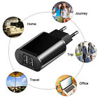 1/Dual USB Port Fast Charger Cellphone Wall Power Charging Adapter 5V 2A EU Plug