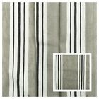 Fossil Grey Black Stripe Linen Pattern Designer Curtain Fabric Material 3m wide