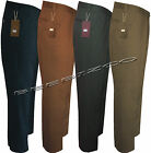 Mens Chino Straight Leg Jeans Pants Regular Fit Trousers Casual 100% Cotton