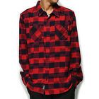Primitive Men's Buffalo Ikat Chequered Buttondown Shirts Red Clothing Apparel