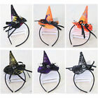 Halloween Witch Cap Hat Party Props Hair Band Clips Headband