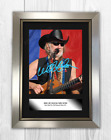 Willie Nelson (2) A4 signed mounted photograph picture poster. Choice of frame.