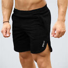 Men's Cotton Fitted Shorts Bodybuilding Workout Gym Running Lifting Shorts US