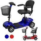 4 Wheel Power Scooter Electric Drive Medical Mobility Disability - Blue Red VC
