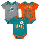 Miami Dolphins Infant Creeper Set NFL Little Tailgater 3-Piece Baby Outfit on eBay