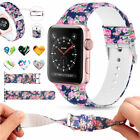 For Apple Watch Series 3 2 1 38/42mm Soft Silicone Replacment Sport Band Printed image