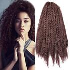 "18"" Afro Braid Kinky Curly Bulk Twist Crochet Braids Synthet"
