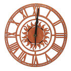 9 Inch Silent Wooden Wall Clock Wood Decoration Housewarming Clocks Non Ticking