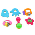 6pcs Baby Rattles Hand Jingle Toys Shaking Bell Rattle Toy Gift Set for Baby G