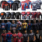 Men's Marvel Superhero Compression T-Shirt Base Layer Sport Muscle Tops Tee image