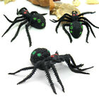 5pcs Fake Spider Shaped Rubber Kids Children Toy Halloween Big Large Web