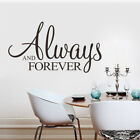 Always And Forever Home Quote Wall Stickers Vinyl Removable Decor Room Decals